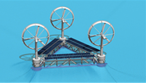 Novel floating wind turbine system