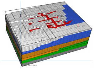 Three dimensional grid model of high temperature geothermal reservoir