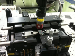 Polarizing optical micrograph of liquid crystal blue phase